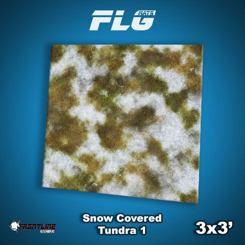 FLG Mats: Snow Covered Tundra 1 3x3'