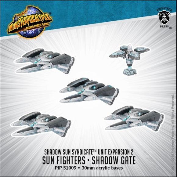 Monsterpocalypse, Sun Fighter and Shadow Gate: Shadow Sun Syndicate Unit (metal/resin)