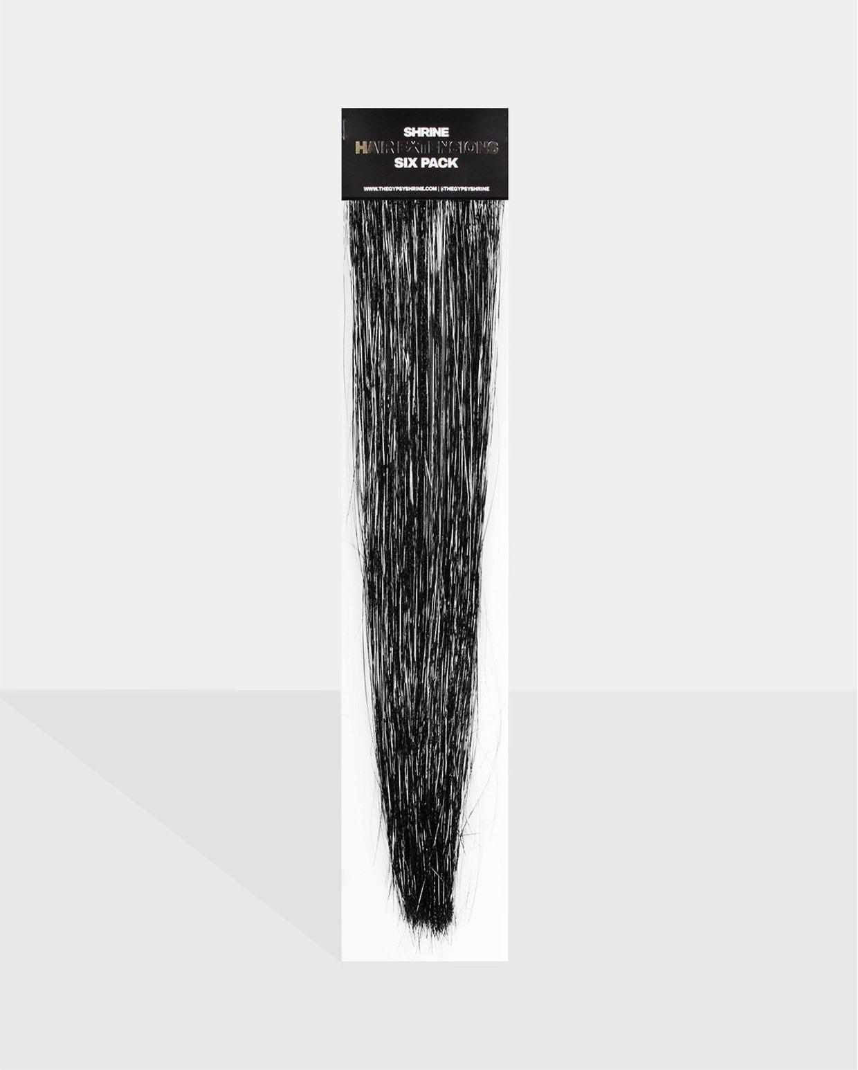 Black Tinsel Hair Extensions