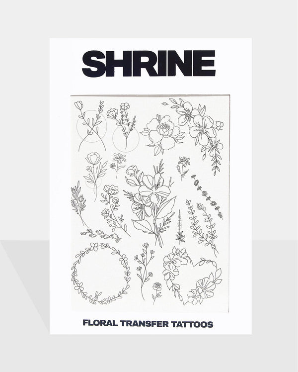 Floral Transfer Tattoos