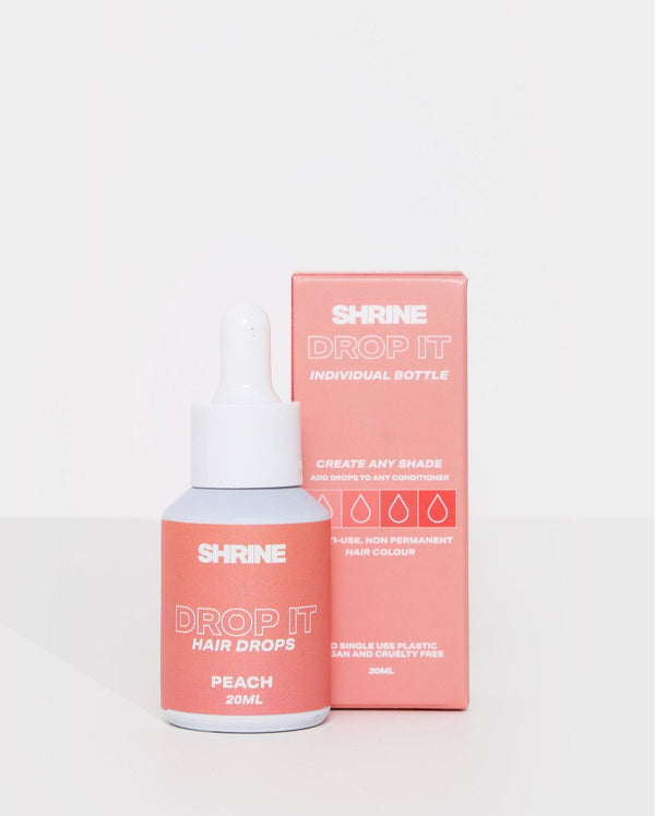 Peach semi permanent hair dye DROP IT individual bottle