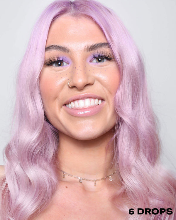 Purple semi permanent hair dye using 6 drops of DROP IT