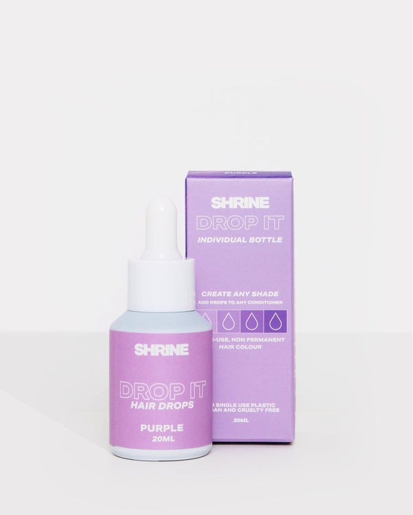 Purple semi permanent hair dye DROP IT individual bottle