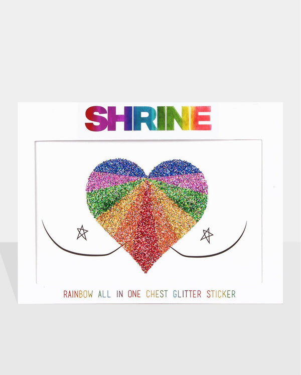 Rainbow Body Glitter Sticker