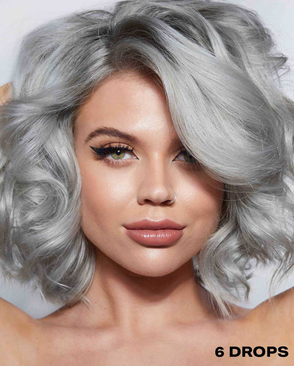 Silver Hair Dye using 6 drops of DROP IT