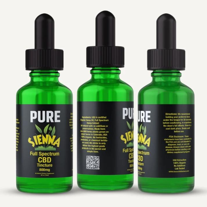 Sienna Pure Full Spectrum Hemp CBD Oil 800mg