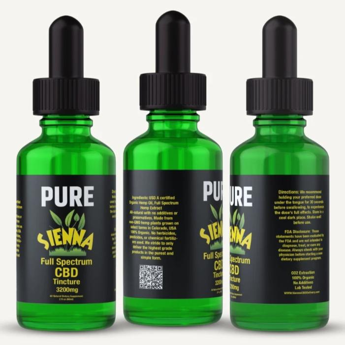 Pure Sienna Full Spectrum Hemp CBD Oil 3200mg