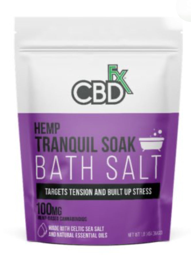 CBD BATH SALT TRANQUIL 100MG
