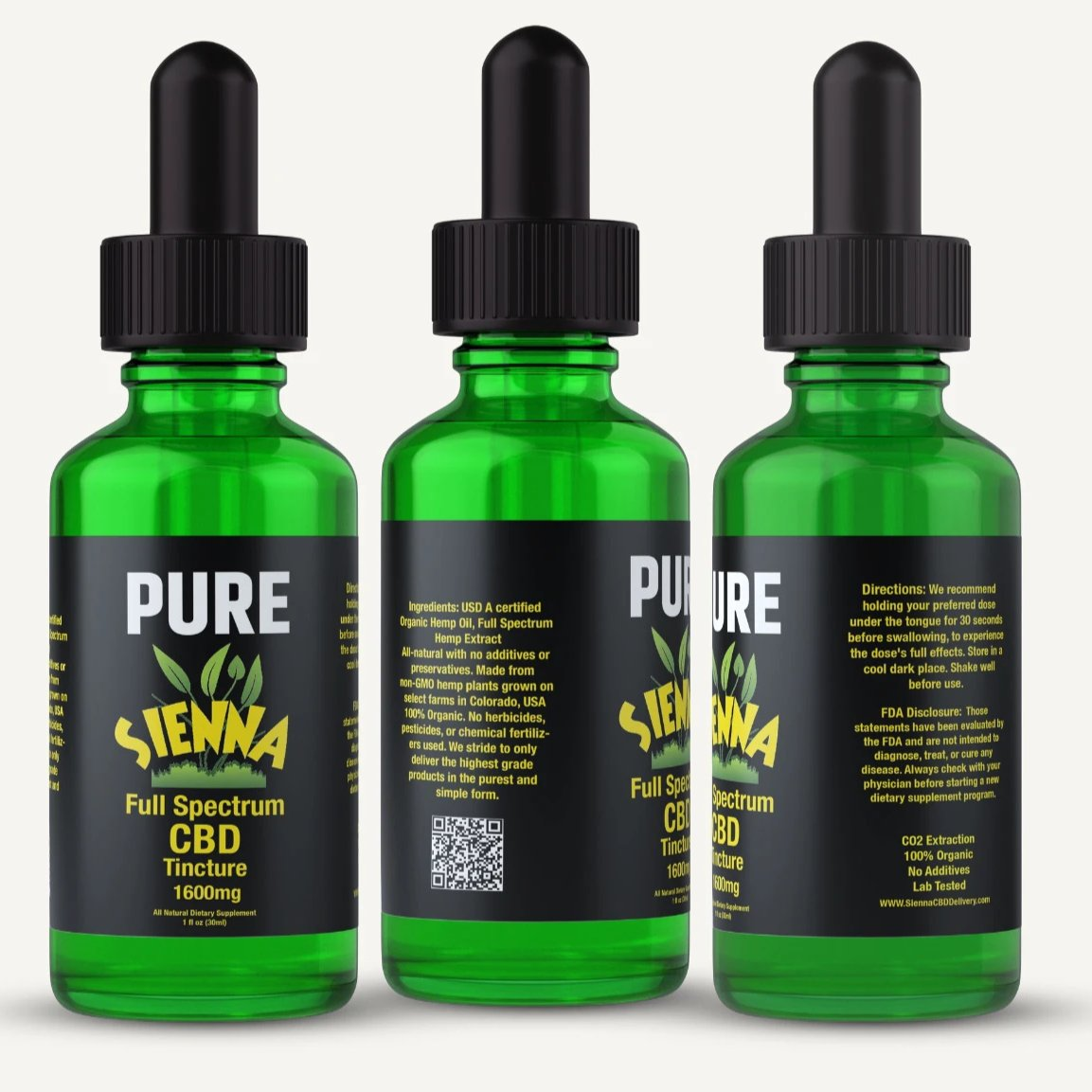 Sienna Pure Full Spectrum Hemp CBD Oil 1600mg