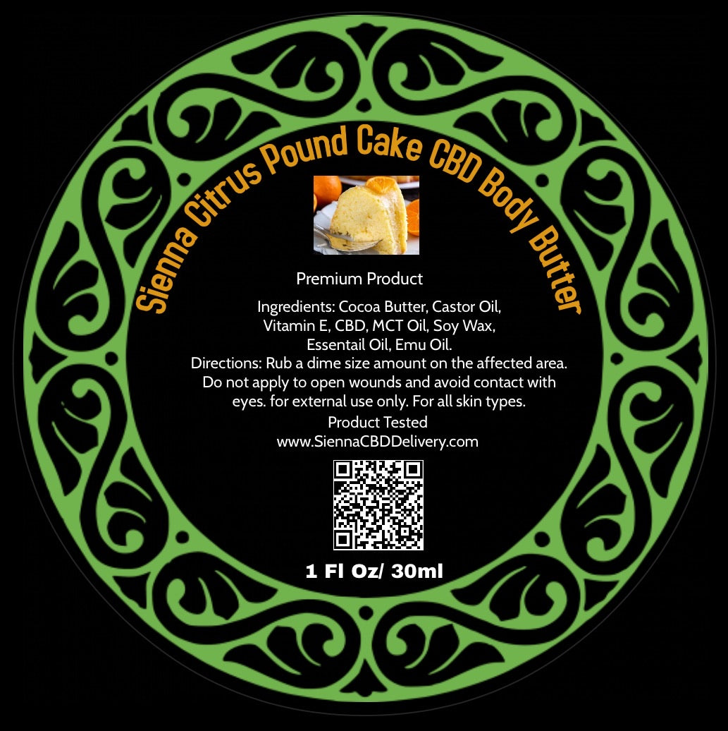 Sienna Citrus Pound Cake Body Butter