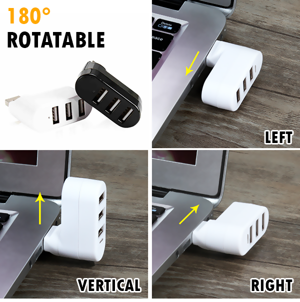 Mini Rotatable 3-Port USB Hub - Buy 3 get free shipping!