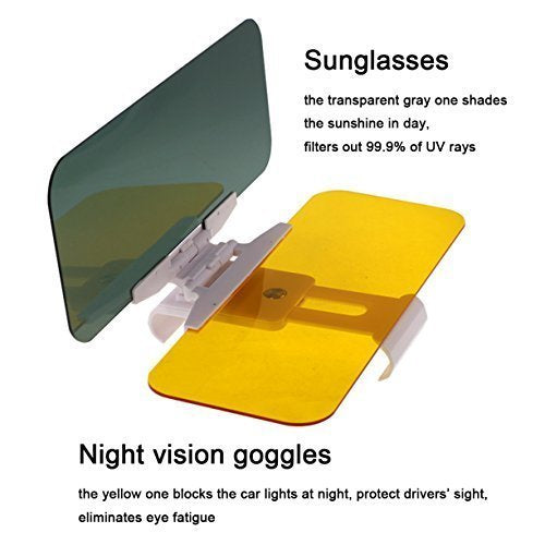 Transparent Windshield Car Sun Visor Day and Night Vision Anti-Glare - OFF 30%