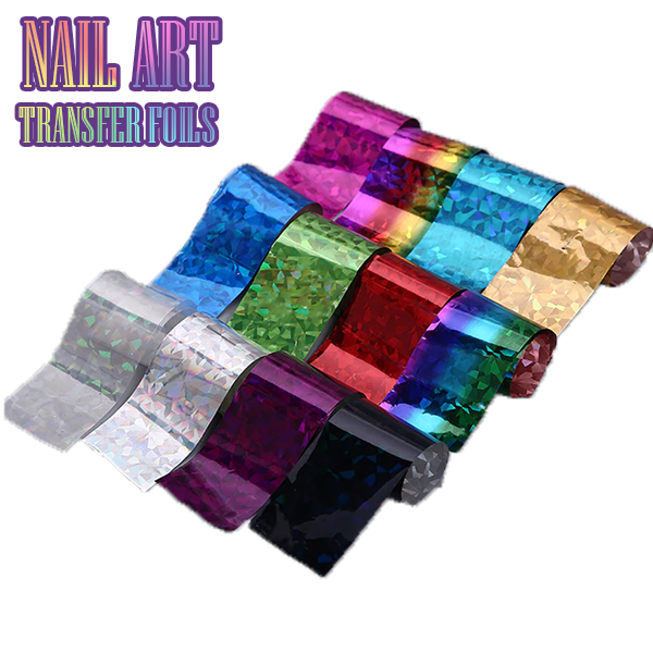 Nail Art Transfer Foils (Set of 12) - Holiday promotion [ONLY $9.99]