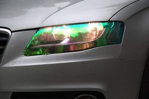 LED LIGHT 12 by 48 inches Self Adhesive Shiny Chameleon Headlights - 70% OFF TODAY