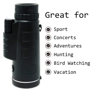 WATERPROOF 40X60 High Power Prism Monocular Telescope - OFF 30%