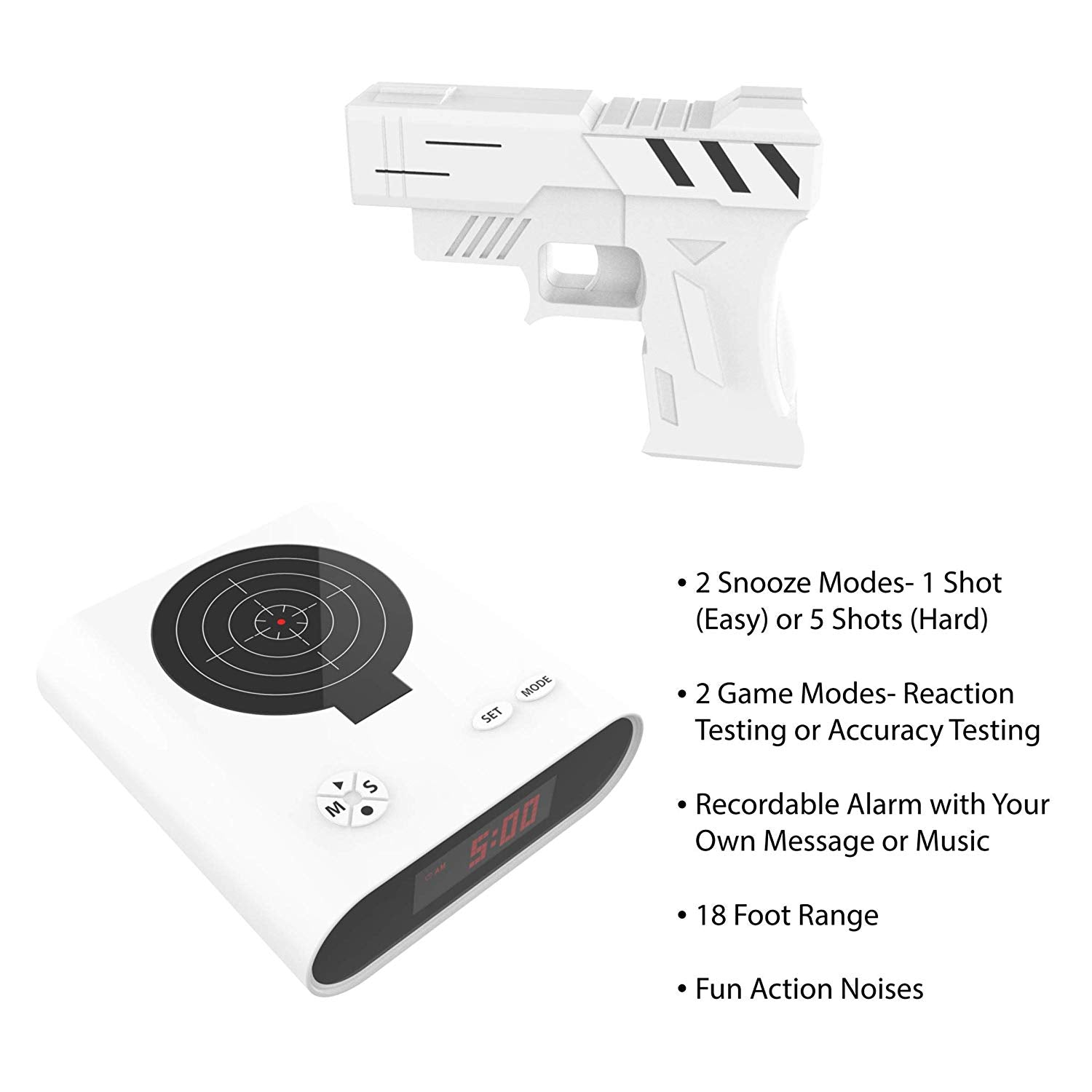 Toy Gun Alarm Clock - OFF 70%