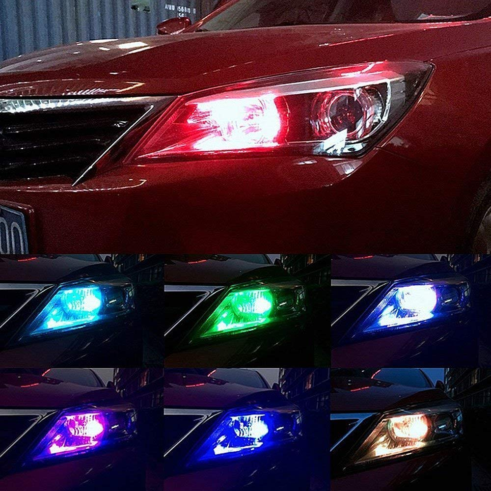 Car 16 color LED headlights - Wireless remote control - 70% OFF Today