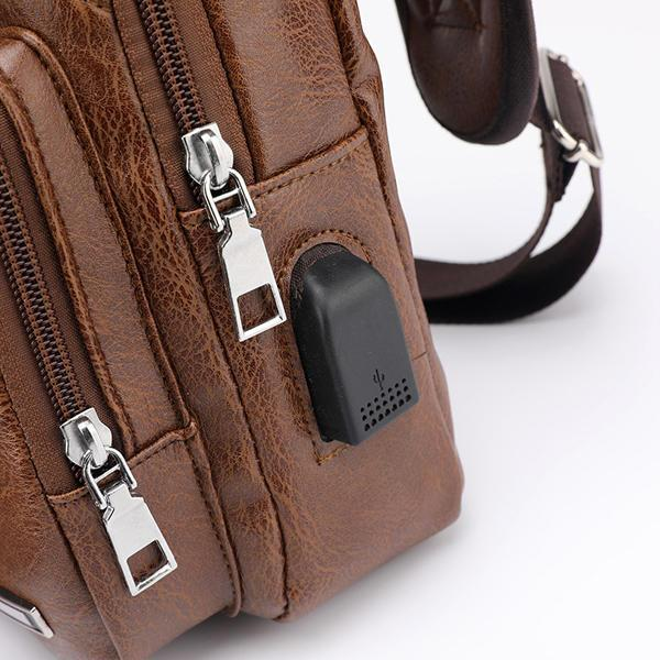Outdoor Anti-theft Shoulder Bags With USB Charging Port And Headphone Port