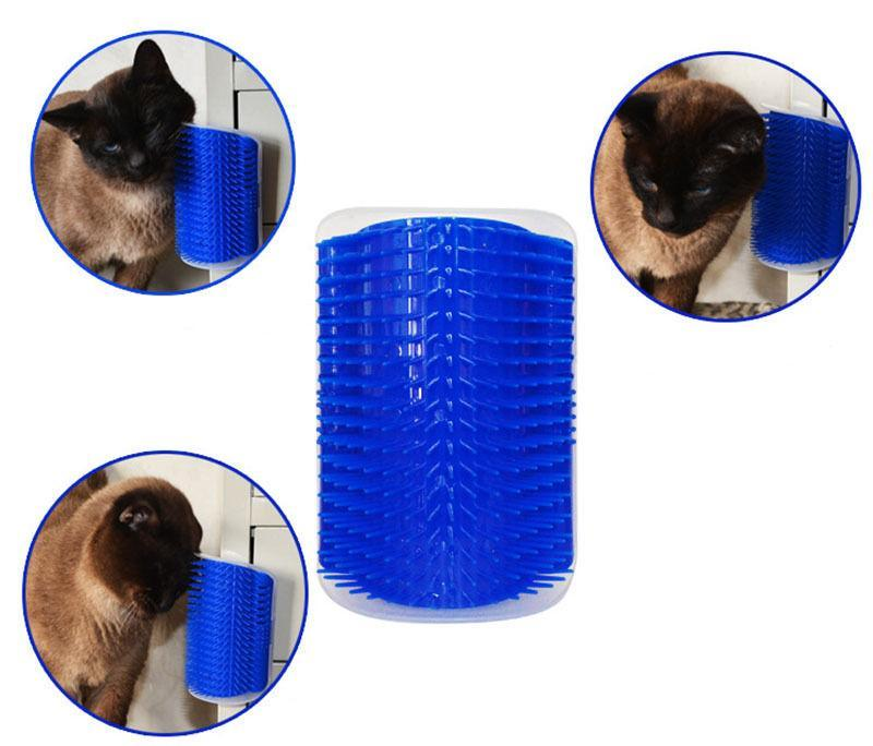 【Buy 2 Get Free Shipping】Cat Self Grooming Wall Massage Brush With Catnip