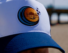 Load image into Gallery viewer, Navy Mesh Back / White Front - Custom Trucker hat