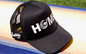 Black HOME Snapback Trucker Hat