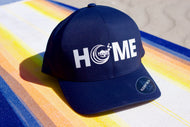 Navy Fitted Flexfit Delta HOME Hat