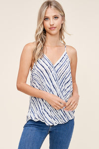 Striped High Low Tank