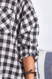 Black Plaid Button Up