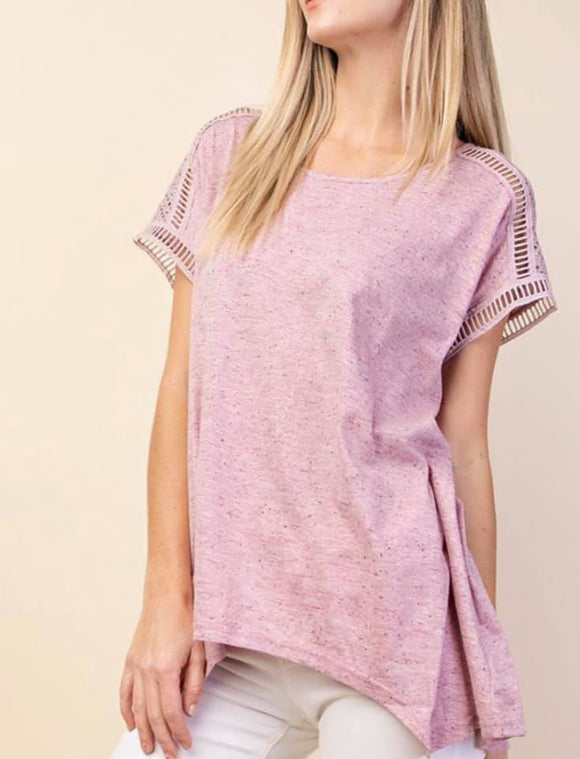Short Sleeve with Lace Detail