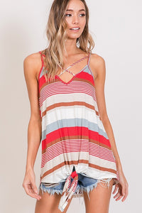 Red Stripe Tank