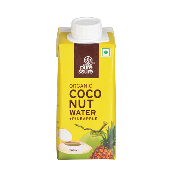 Pure & Sure Organic Coconut Water – Pineapple 200ML