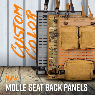 New: Custom Color - MOLLE Seat Back Panels