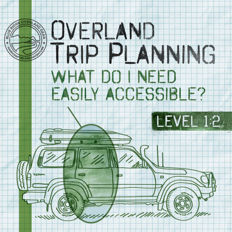 Overland Trip Planning: What Do I Need Easily Accesible? | Level 1:2