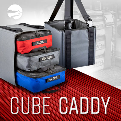 Cube Caddy: Storage Tote and Packing Cube Carrier