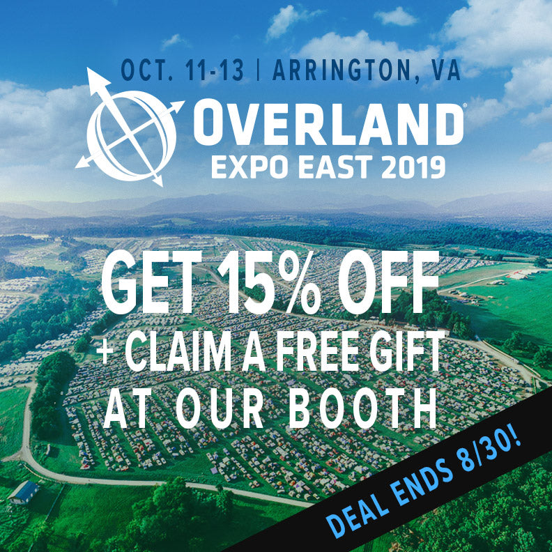 Discount to Overland East 2019 - Deal Ends 8/30!