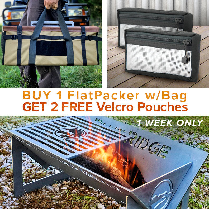 Buy 1 Firepit, Get 2 Pouches FREE (1 Week Only)