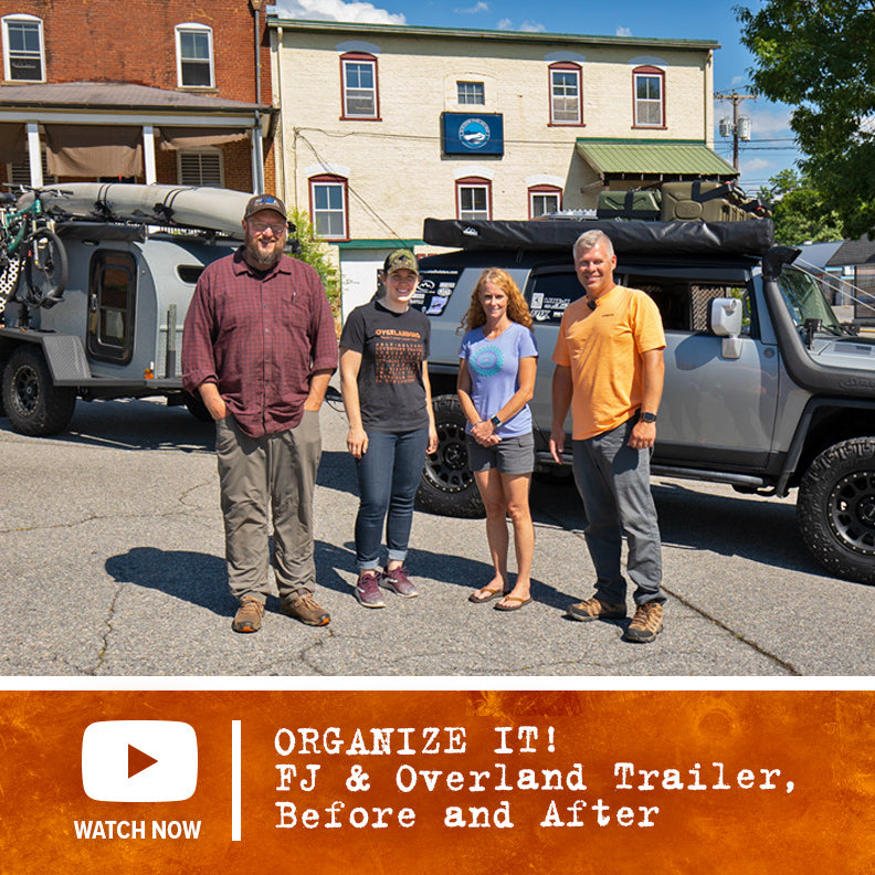 Organize It! FJ Cruiser and Overland Trailer - Before and After