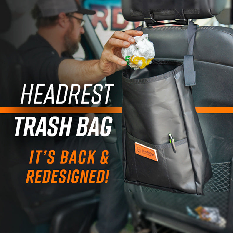Headrest Trash Bag - it's back and newly redesigned