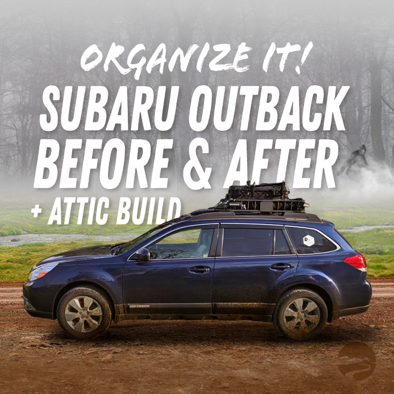 Organize It! Subaru Outback Before and After