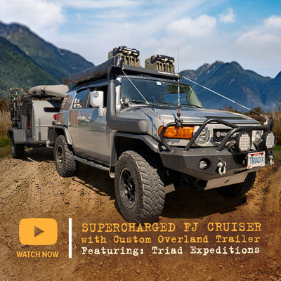 Supercharged FJ Cruiser w/ Custom Overland Trailer