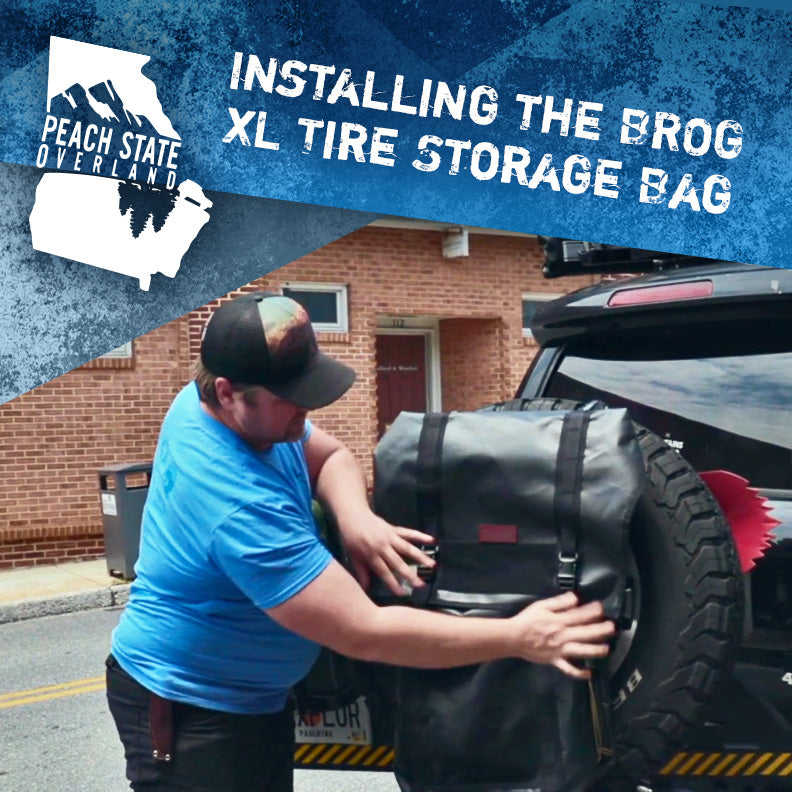 Installing the BROG XL Tire Storage Bag (with Peach State Overland)