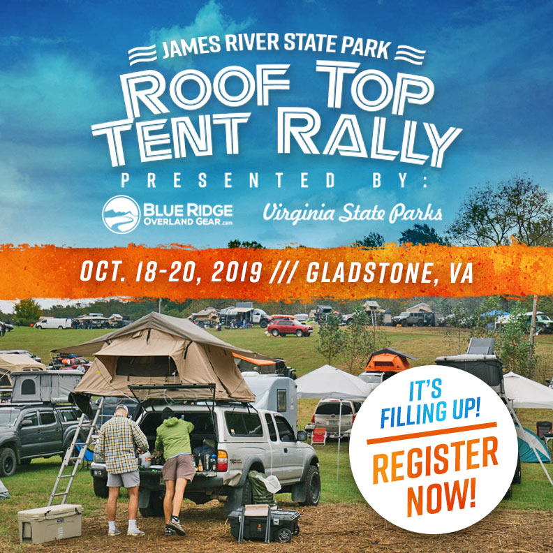 Registration is Filling Up For the 2019 Roof Top Tent Rally - Register Now!