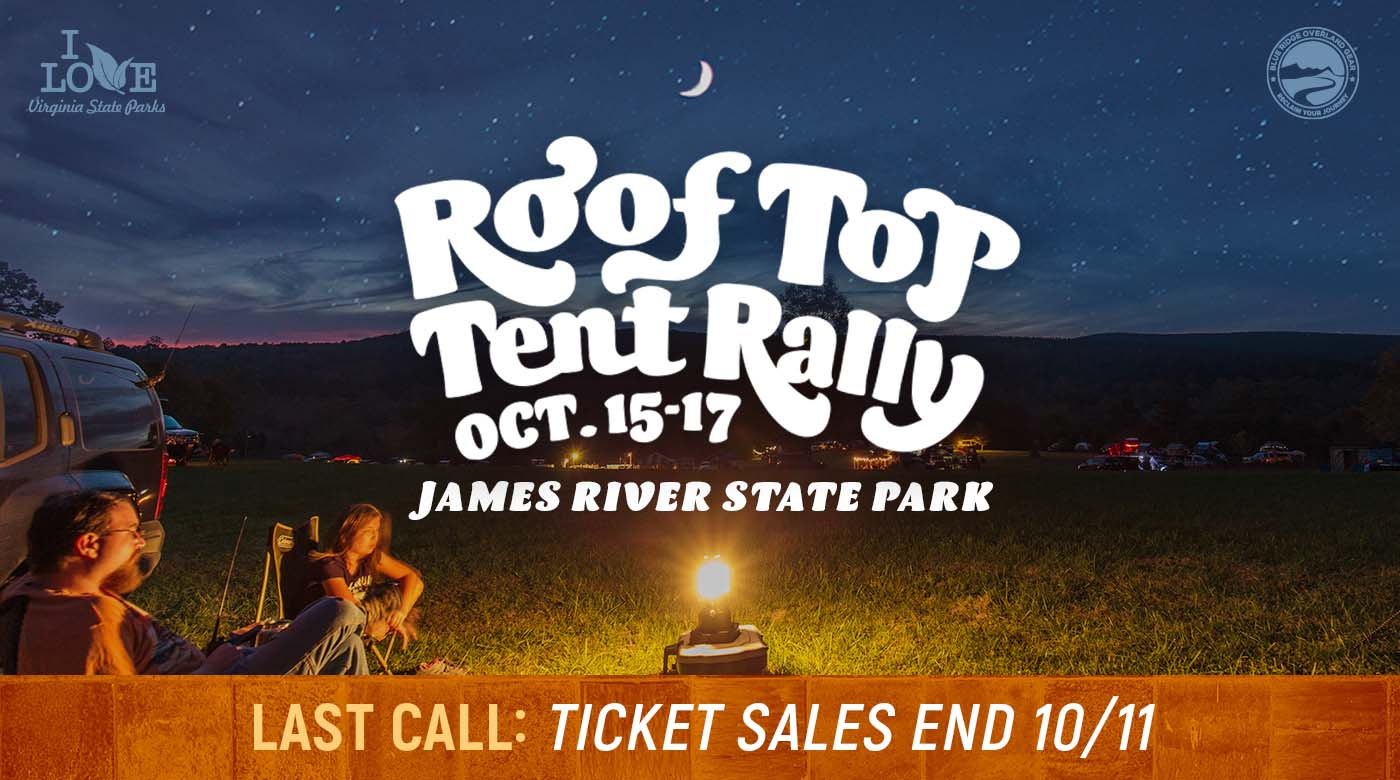 Last call: Roof Top Tent Rally ticket sales end Oct. 11