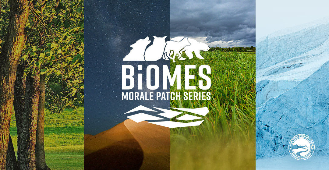 Biomes: ecological morale patch series for overlanders - from Blue Ridge Overland Gear
