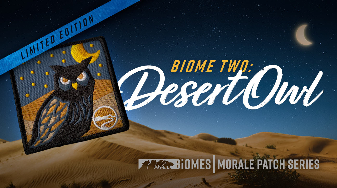 Owl patch (Desert Owl is the second in the Biomes morale patch series)