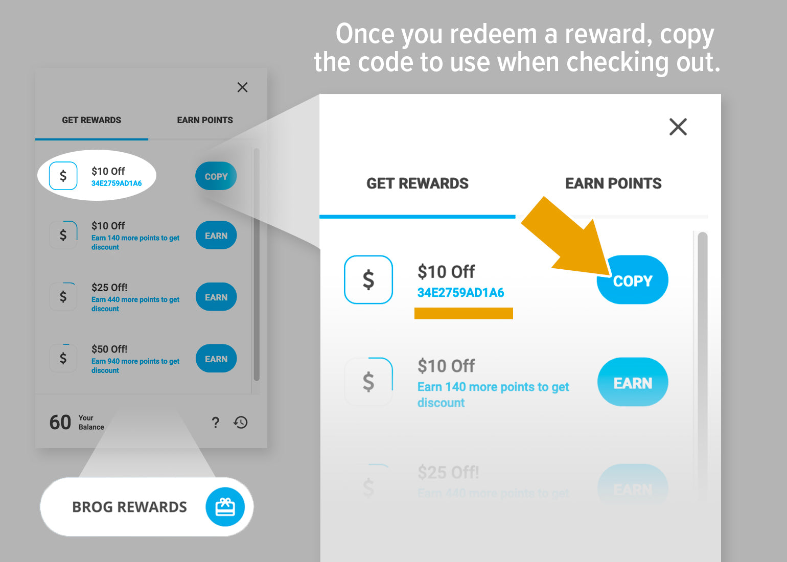 Redeem and spend rewards