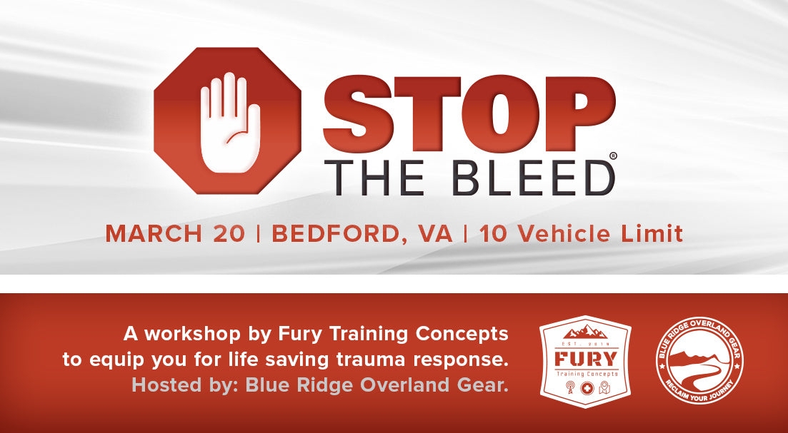 Stop the Bleed workshop with Fury Training Concepts - March 20, 2021
