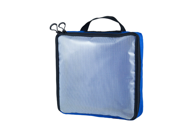 "Clear Packing Cube 12 x 12 x 2.5"" Blue - Blue Ridge Overland Gear"