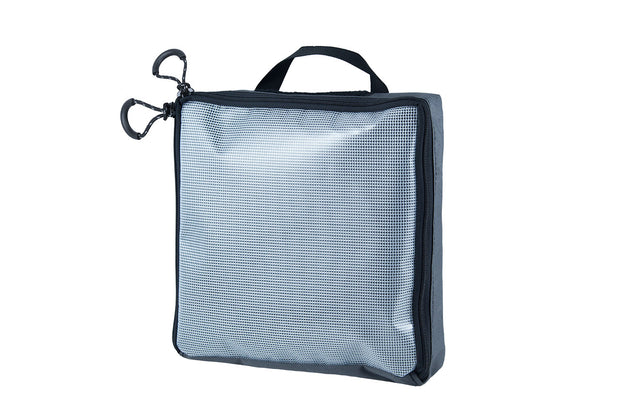 "Clear Packing Cube 12 x 12 x 2.5"" Gray - Blue Ridge Overland Gear"