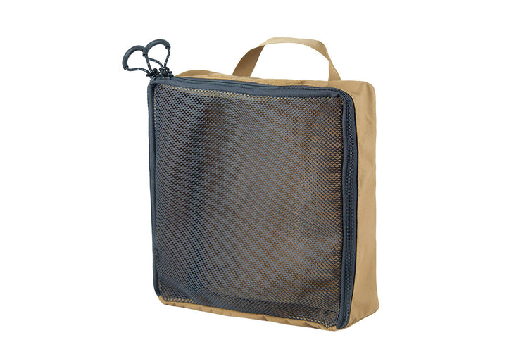 "Mesh Packing Cube - 12 x 12 x 4"" Coyote - Blue Ridge Overland Gear"